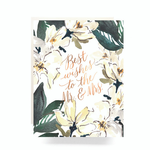 Magnolia Mr. & Mrs. Greeting Card