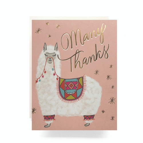 Alpaca Thanks Greeting Card