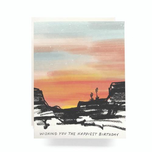Mesa Sunset Birthday Greeting Card