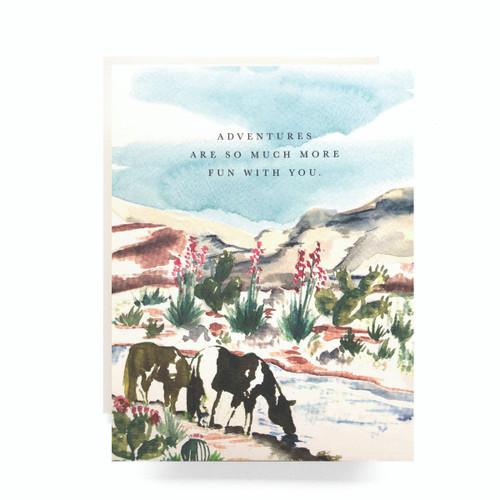 Wild Horse Adventure Greeting Card