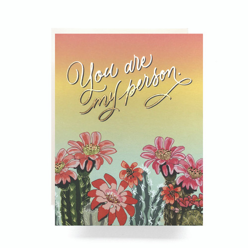 Cactus Ombre My Person Greeting Card
