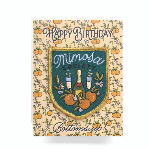 Patch Greeting Card | Mimosa Birthday