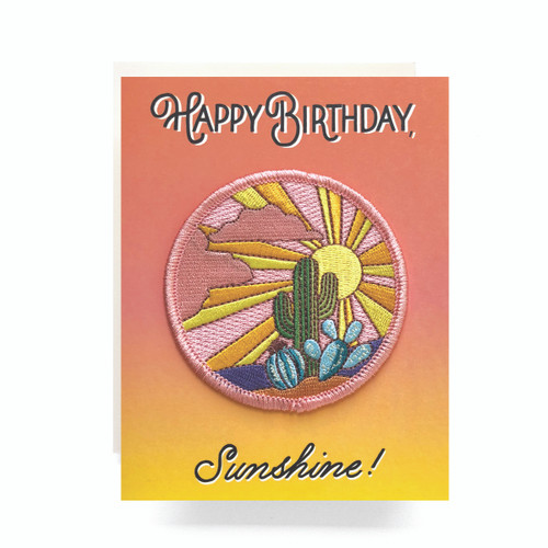 Patch Greeting Card | Cactus Sunset Birthday