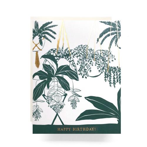 Houseplant Birthday Greeting Card