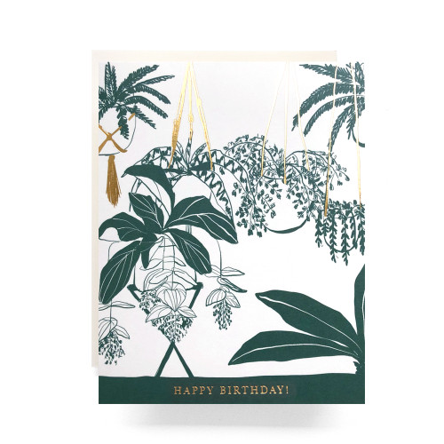 Houseplant Birthday Greeting Card