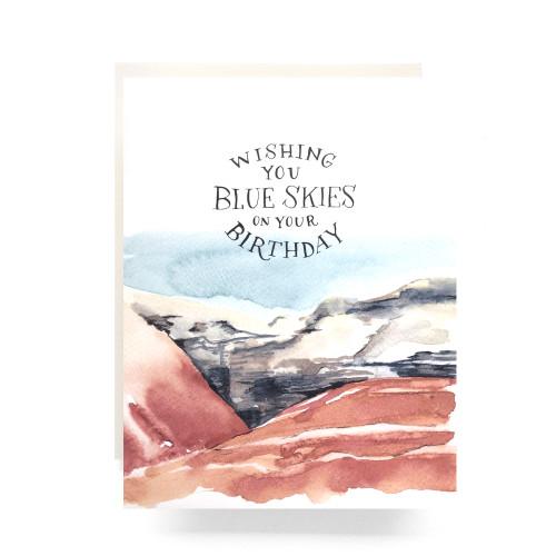 Blue Skies Birthday Greeting Card