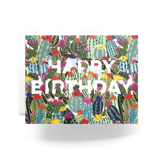 Cactus Explosion Birthday Greeting Card