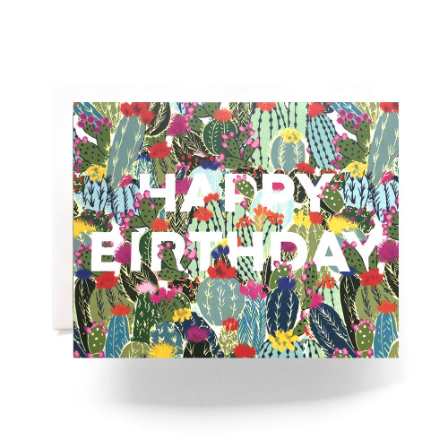 Cactus Explosion Birthday Greeting Card