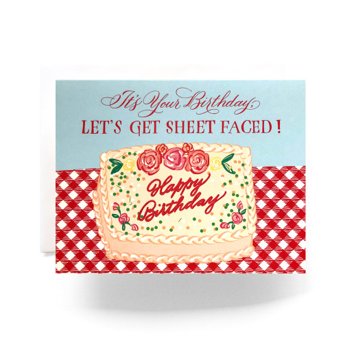 Sheet Faced Birthday Greeting Card