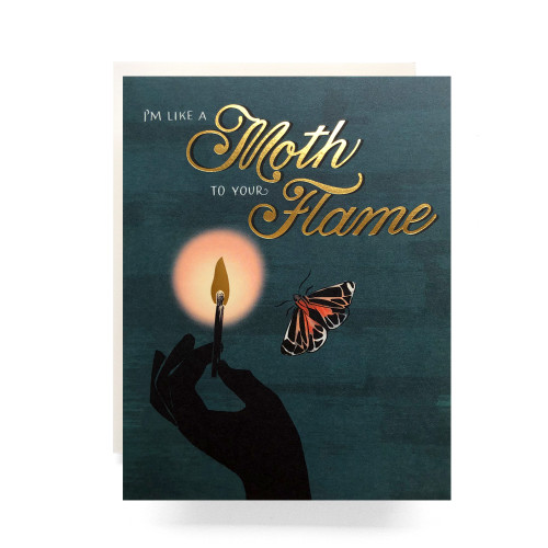 Moth to a Flame Greeting Card
