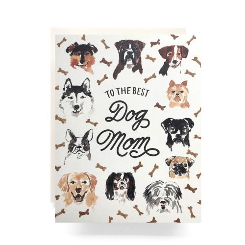 Best Dog Mom Greeting Card