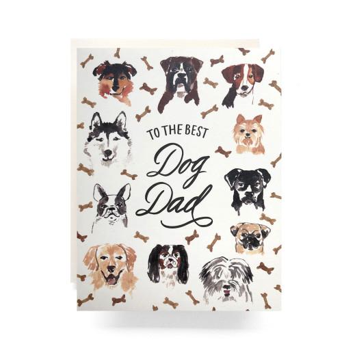 Best Dog Dad Greeting Card