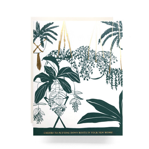 Houseplant Housewarming Greeting Card
