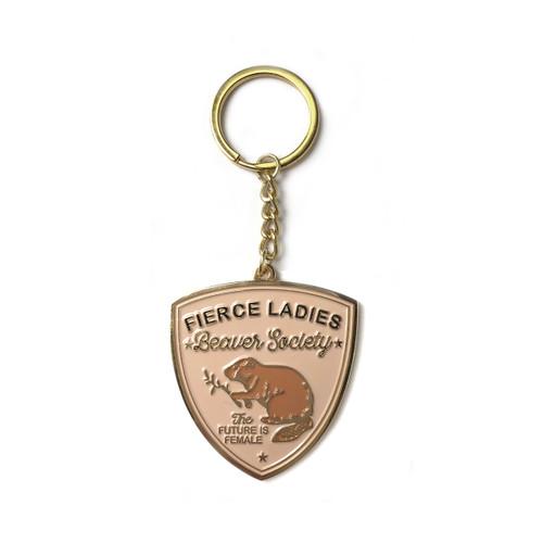 Beaver Society Enamel Keychain