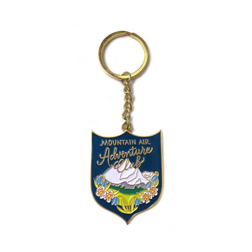 Adventure Club Enamel Keychain