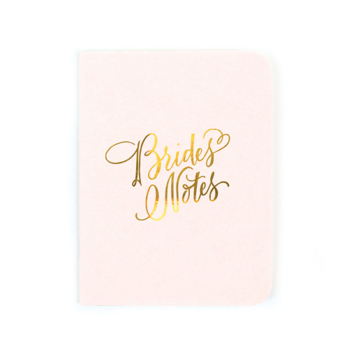 """Bride's Notes"" Gold Foil Notebook"