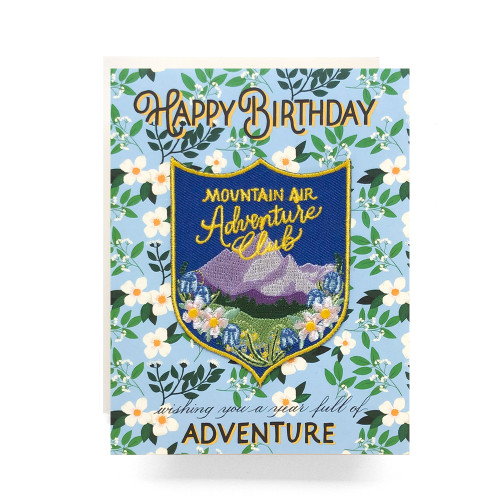 Patch Greeting Card | Mountain Adventure