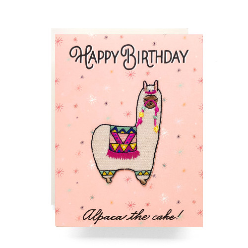 Patch Greeting Card | Alpaca