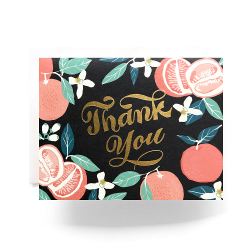 Grapefruit Thanks Greeting Card