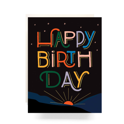 Sunrise Birthday Greeting Card