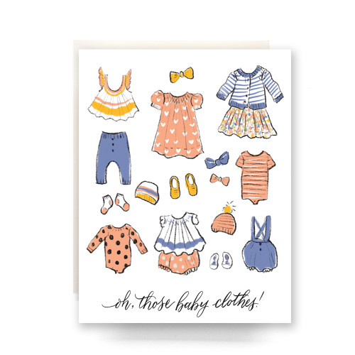 Oh, those baby clothes! Greeting Card