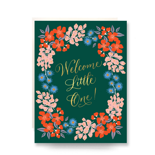 Wildflowers Welcome Little One Greeting Card