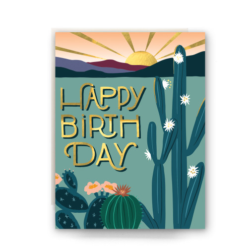 Desert Morning Birthday Greeting Card