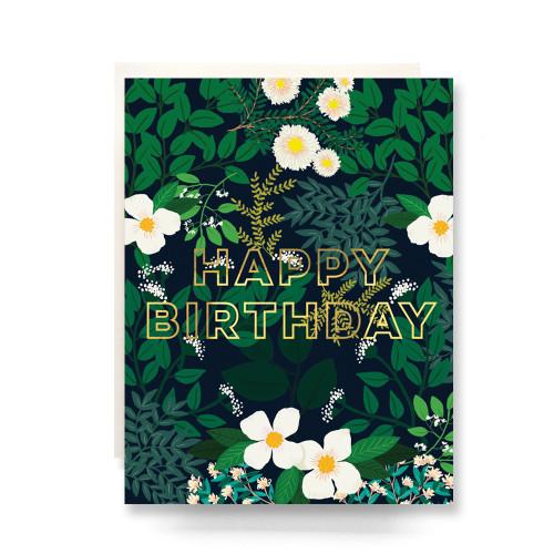 Secret Garden Birthday Greeting Card
