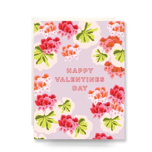 Geranium Valentine Greeting Card