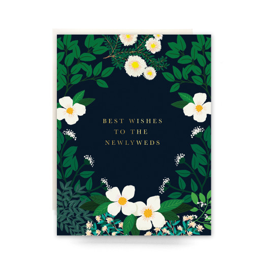 Secret Garden Newlyweds Greeting Card