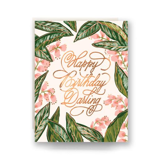 Ginger Blossom Birthday Greeting Card