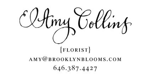 """Calligraphy Accent"" Calling Card Stamp"