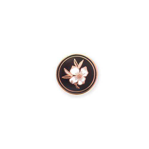 Dogwood Medallion Enamel Pin