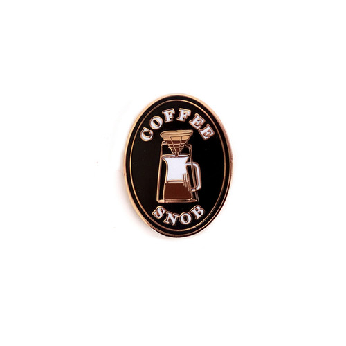 Coffee Snob Enamel Pin