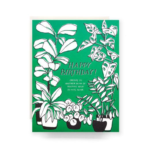 Green Thumb Birthday Greeting Card