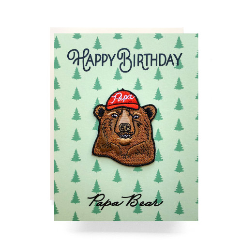 Patch Greeting Card | Papa Bear Birthday