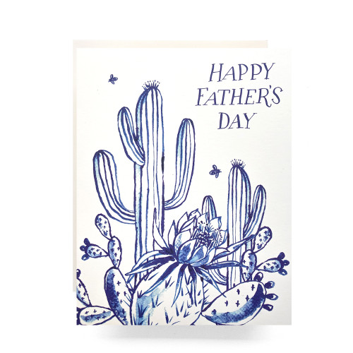 Cactus Garden Father's Day Greeting Card