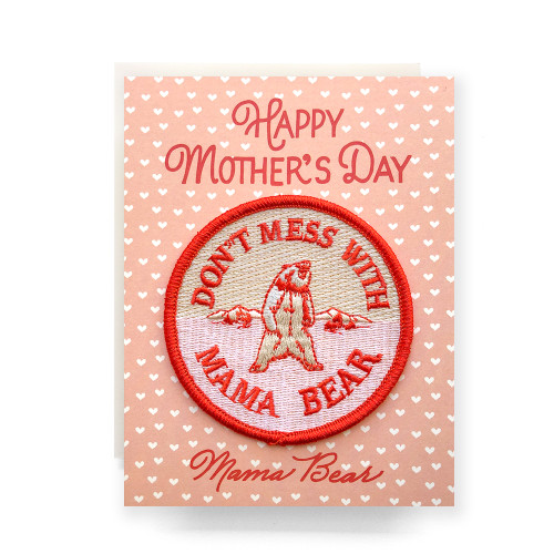Patch Greeting Card | Mama Bear Mother's Day