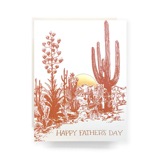 Cactus Sunset Father's Day Greeting Card