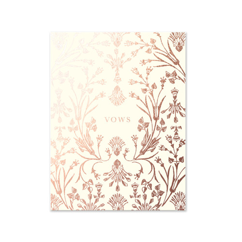 Cream Botanical Vows, A2 Pocket Jotter