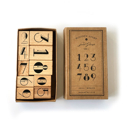 Deco Numbers Stamp Set