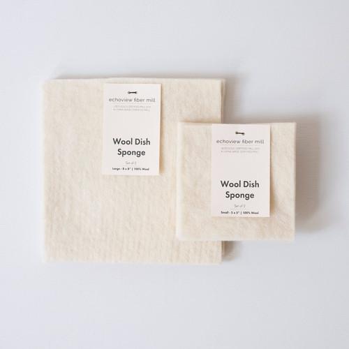 Wool Dish Sponge- Set of 2