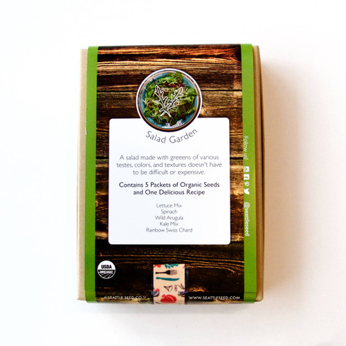 Organic Seed Collection - Salad Garden