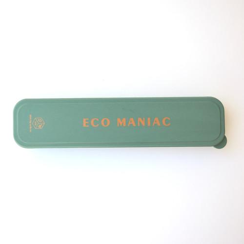 "Portable Flatware set- ""Eco Maniac"" Forest Green"