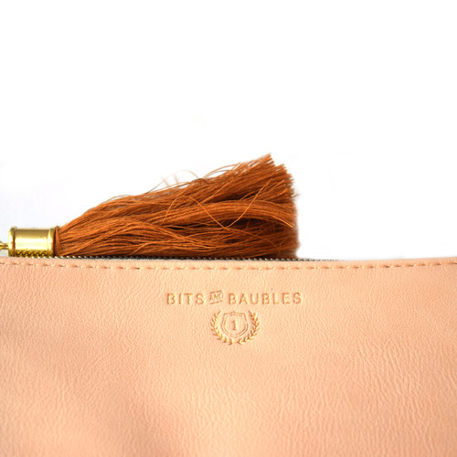 """Pencil Pouch, Blush """"Bits and Baubles"""""""