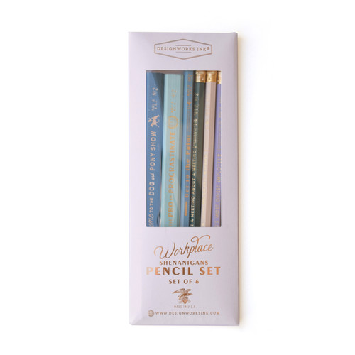 "Pencil Set,  ""Workplace"" Set of 6"