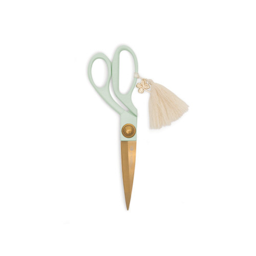 Scissors, Mint Handle with Tassel