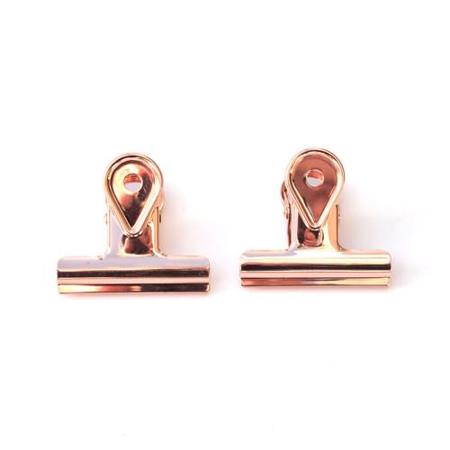 Rose Gold Binder Clips- Large- Set of 2