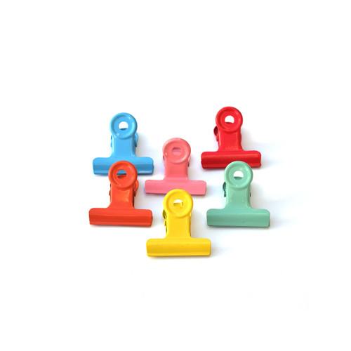 Multicolor Binder Clips- Set of 6
