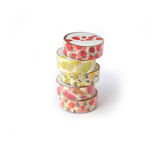 Washi Tape Fruit Collection,  set of 5